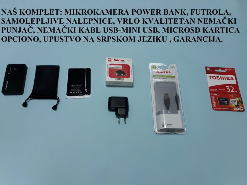 power bank spijunska kamera